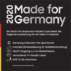Samsung GQ43LS01TBU Serif-TV- Made for Germany 2020